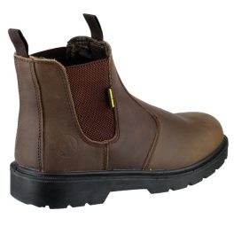 Amblers FS128 Brown Safety Dealer BootFETY BOOTS (BROWN)