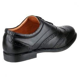 Amblers LIVERPOOL Black Brogue Shoe
