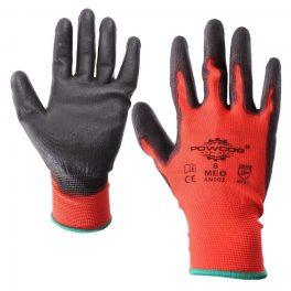 Red/black PU Work Glove