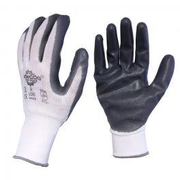 Grey Nitrile Work Gloves