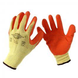 Orange Grip Latex Coated Glove