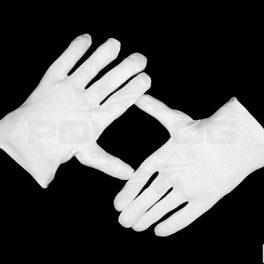 White Cotton Glove Liners-5979