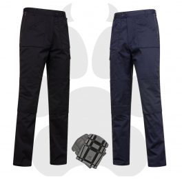 Black or navy action trouser with optional knee-pads-0