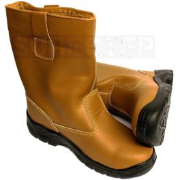 Tan Lined Rigger Boot-6865