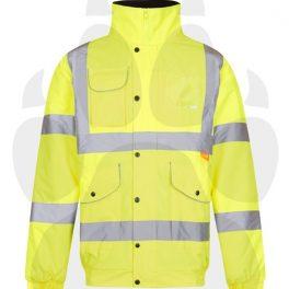 Hi Viz Yellow Bomber & Optional Back Badges-6822