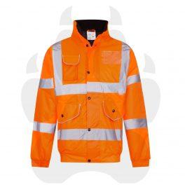 Hi Viz Orange Bomber Jacket-0