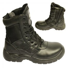 Black Combat Safety Boot-0