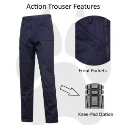 Black or Navy Action Trouser-7130