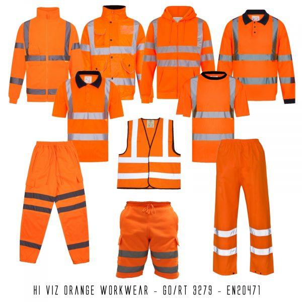 Hi Viz Orange Railtrack Workwear