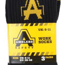 3 Pair Pack - Amblers Work Socks-7117