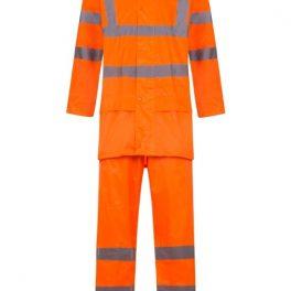 Hi Viz Orange Rain-suit-7644