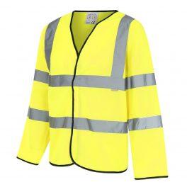 Hi Viz Yellow Long Sleeve Waistcoat-0