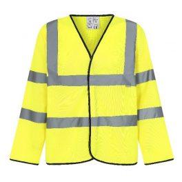 Hi Viz Yellow Long Sleeve Waistcoat-7896