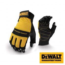 Dewalt Fingerless Leather Palm Gloves DPG23 - Size L -0