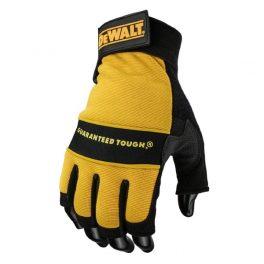 Dewalt Fingerless Leather Palm Gloves DPG23 - Size L -7970