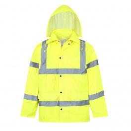 Hi Viz Yellow Mesh Lined Parka Jacket-0