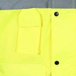 Hi Viz Yellow Mesh Lined Parka Jacket-7995