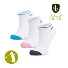 Island Green IGLSCK1871 Ladies Assorted Colour Trainer Socks - 3 Pack-0