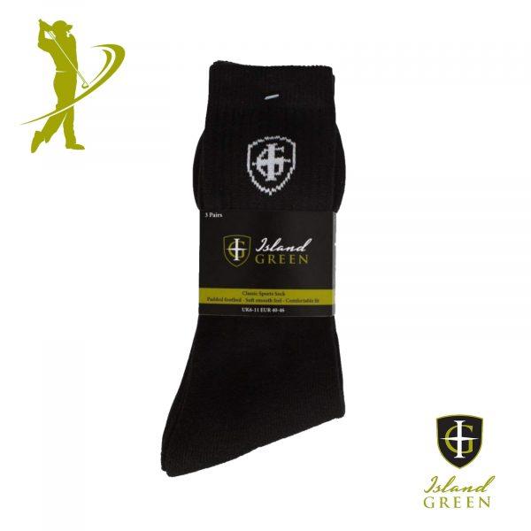 Island Green IGSCK1633 Assorted Colour Socks 6-11 - 3 Pack-0