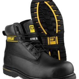 CAT HOLTON Black Safety Boot-8048