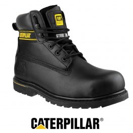 CAT HOLTON Black Safety Boot-0