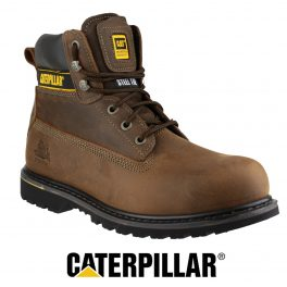 CAT HOLTON Brown Safety Boot-0
