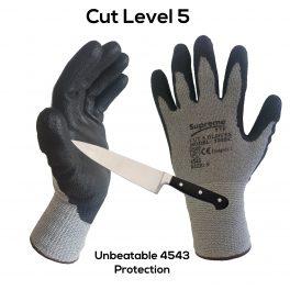 Cut Level 5 Grey/Black Glove-0