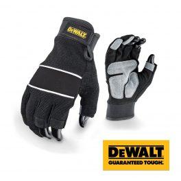 Dewalt 3 Finger Leather Palm Gloves DPG214 - Size L -0