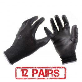 Black PU Glove - 12 Pairs-0