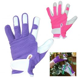 Leather Gardening Gloves - Various Colours-0