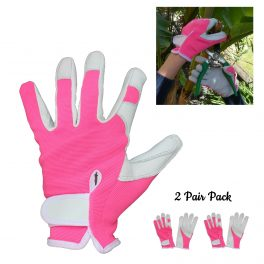 Pink Gardening Glove - 2 Pair Pack-0