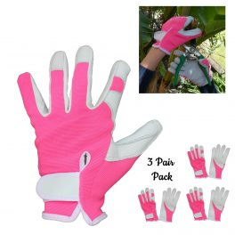 Pink Gardening Glove - 3 Pair Pack-0
