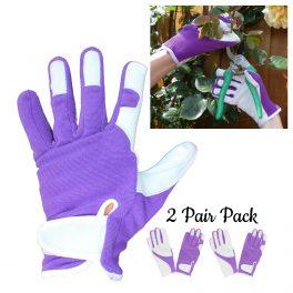 Purple Gardening Glove - 2 Pair Pack-0