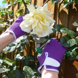 Purple Gardening Glove - 3 Pair Pack-8672