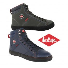 Lee Cooper Retro Safety Boot - Grey/Navy-0