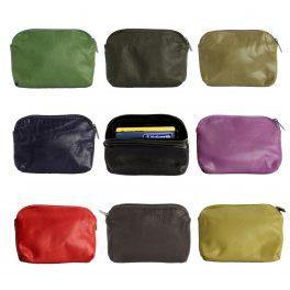 Coloured Leather Coin Purses-0